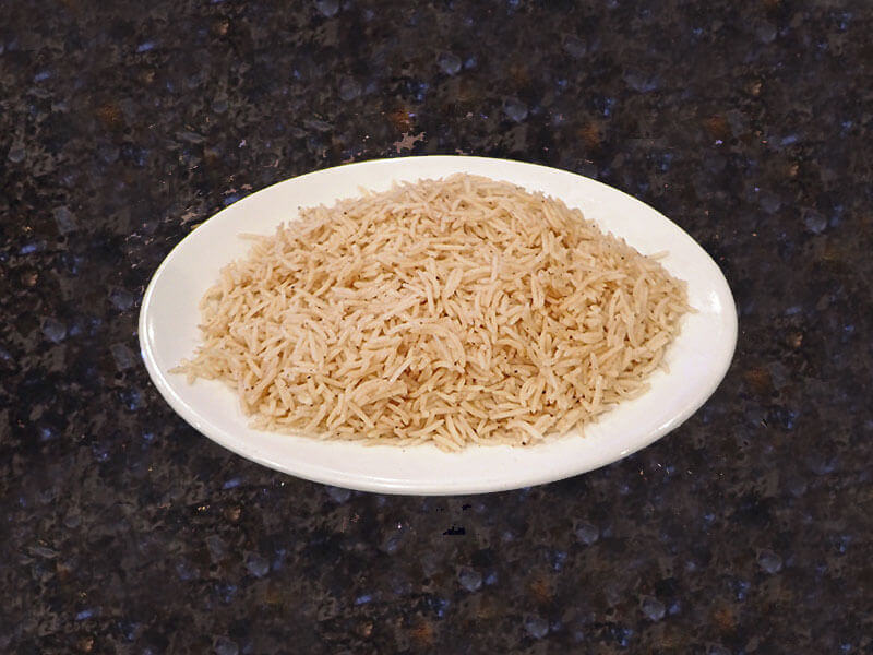 Plain Rice with mild spices